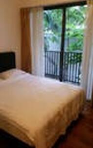 nice double bedroom with balcony