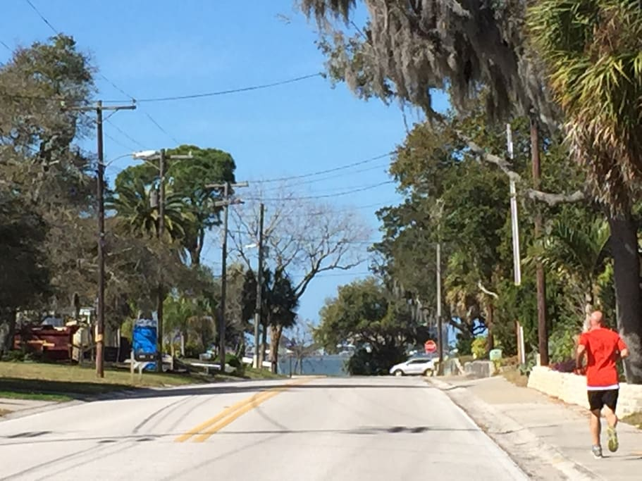 2 blocks to Edgewater Dr and 2 blocks to Pinellas Trail