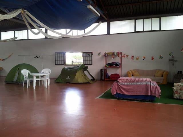 Indoor-Outdoor Camping space inFarm