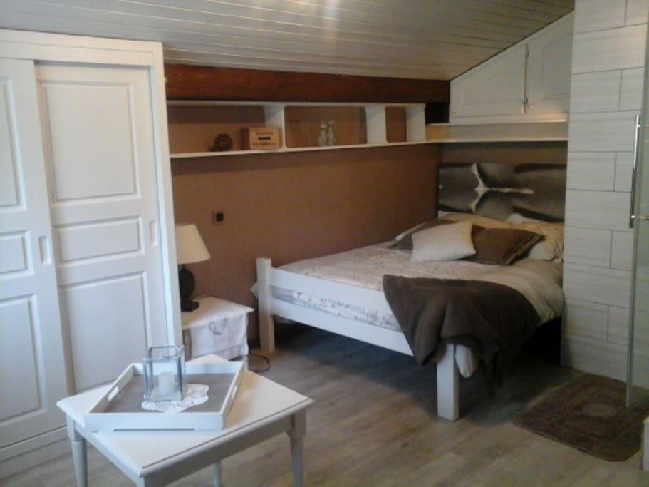 lit 2 places  chambre 3 indépendante avec supplément