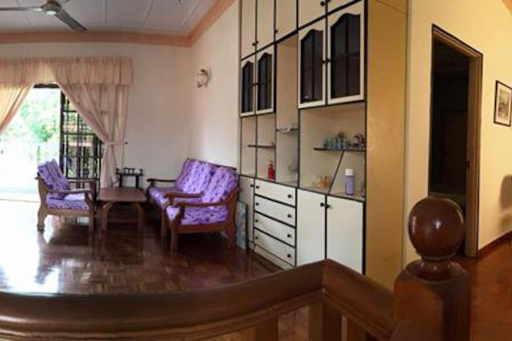 2nd floor with wooden flooring. Nice area for Mah Jong.