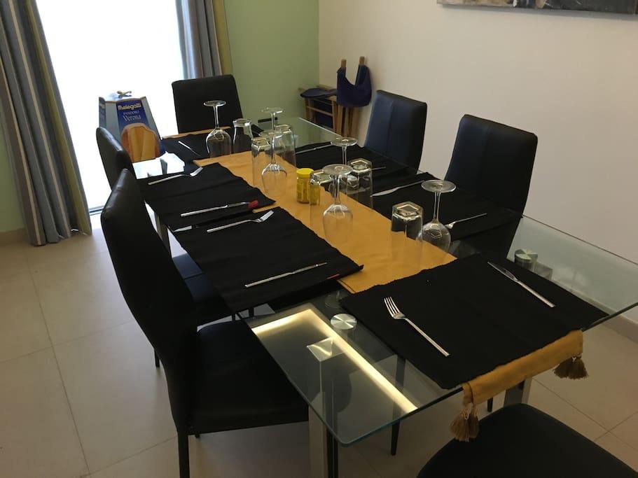 Dining Room Set up