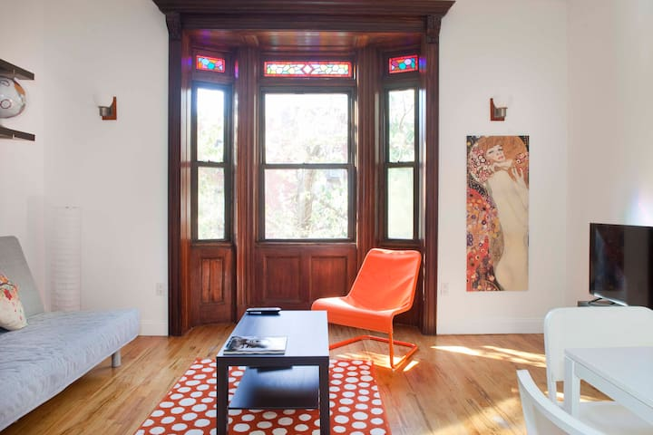 Brownstone Apt near Central Park - New York - Byt