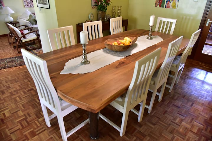 Homely dining room to make you feel at home.