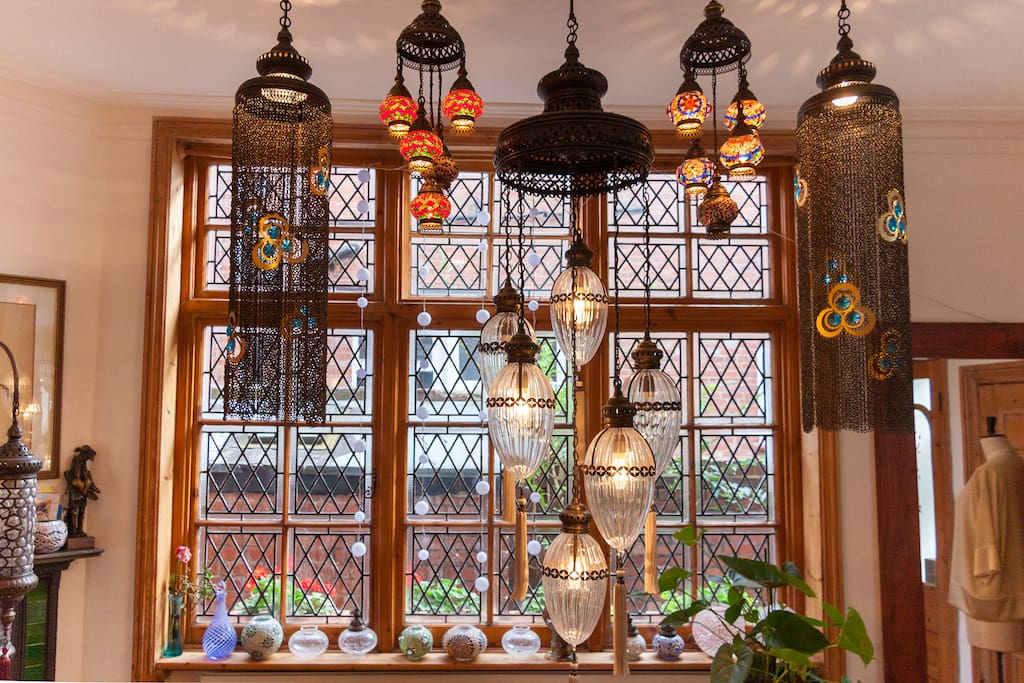 Turkish lamps at the entrance