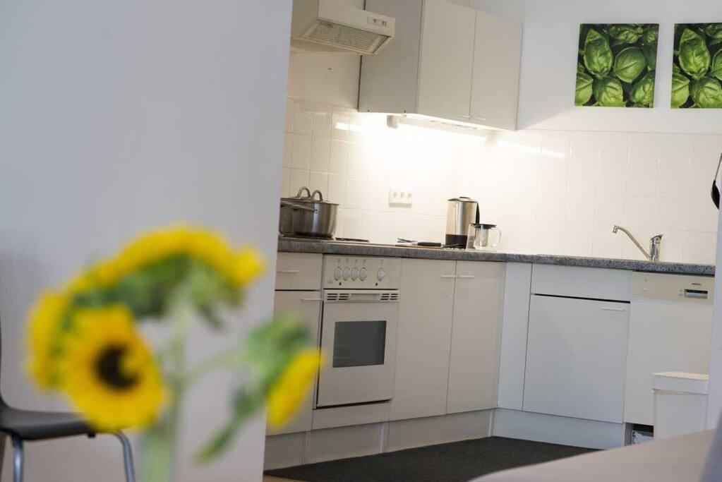 Blick auf Küche