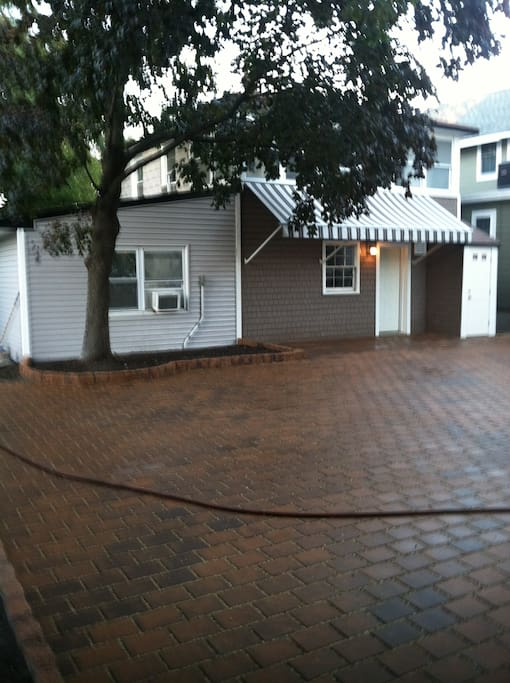 Andy Warhol exterior and paved driveway