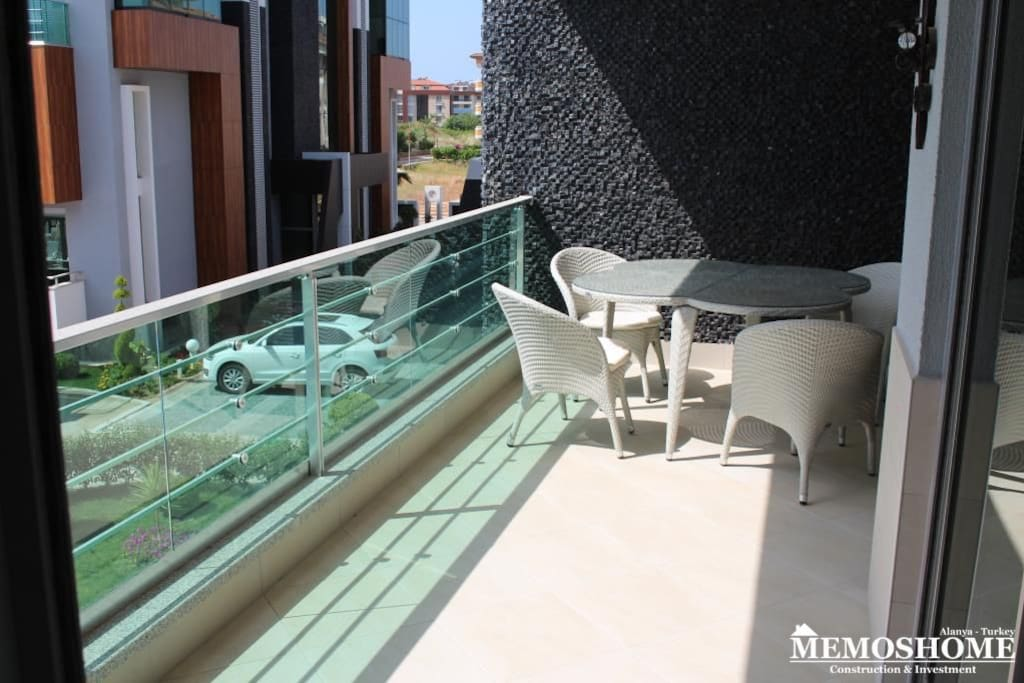 Lovely balcony with access from Lounge and both bedrooms overlooking the pool area.