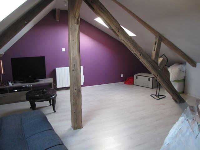 Studio refait à neuf avec poutres - Châteauneuf-en-Thymerais - Hus