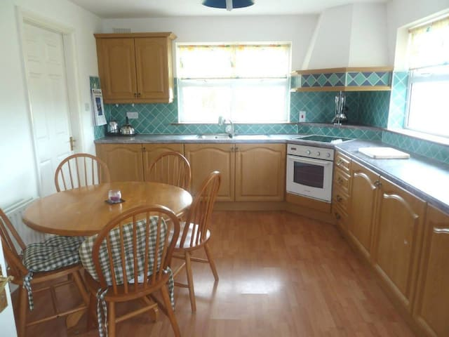 Fully fitted Kitchen with utility room, views of Crough Patrick
