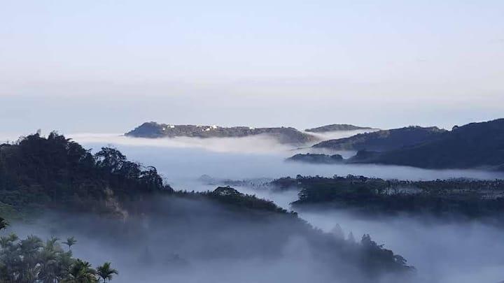 溪頭蜜月森林-Moon2 超大寬敞特大床、甜蜜舒適、藝術畫廊、養生早餐、近杉林溪、大崙山銀杏森林
