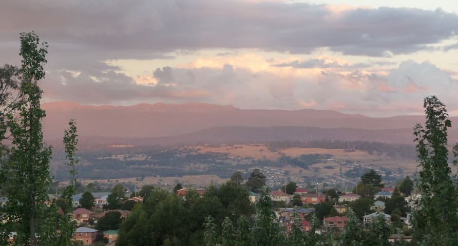 View towards the mountains East of Launceston, from my home.