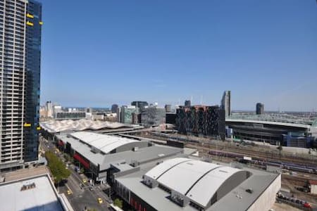 Next to Southern Cross Station