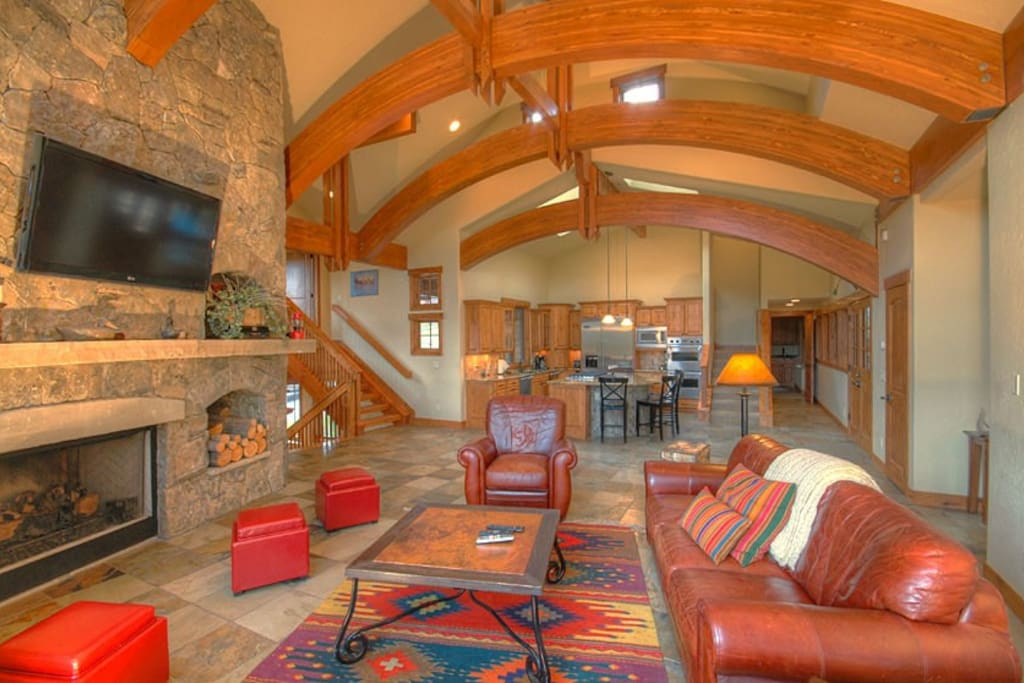 Great Room & Kitchen on Main Level