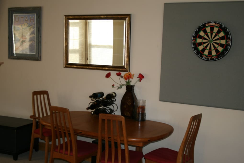 Dart Board and Dining Table