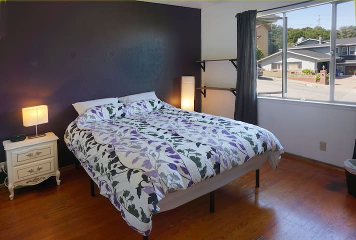 Room near San Francisco Airport  - Fast WiFi - Millbrae - Casa