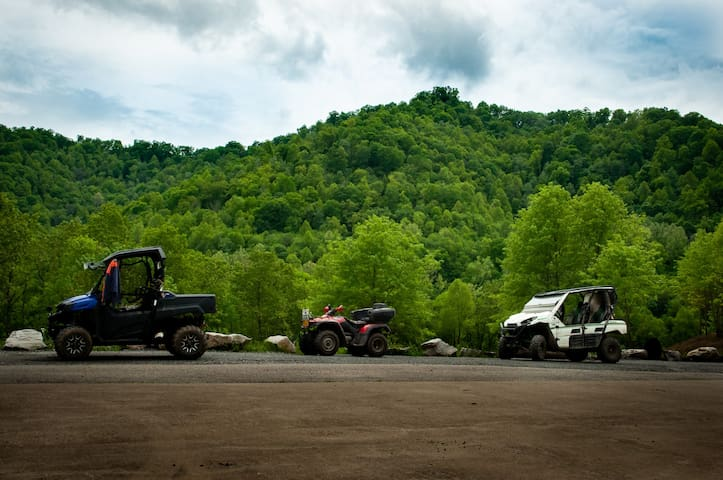 ATV Friendly! Wash station and covered parking available.
