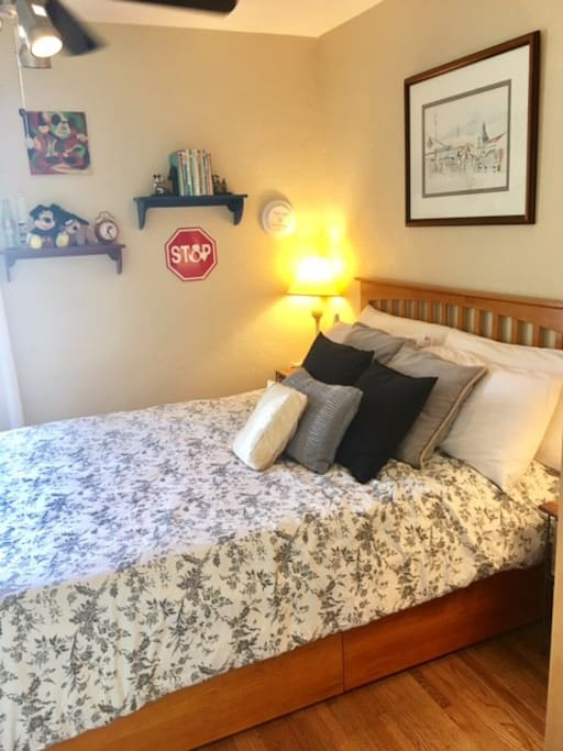 Brand new Queen Memory Foam bed. Mattress and pillows encased with covers - all fresh and new.