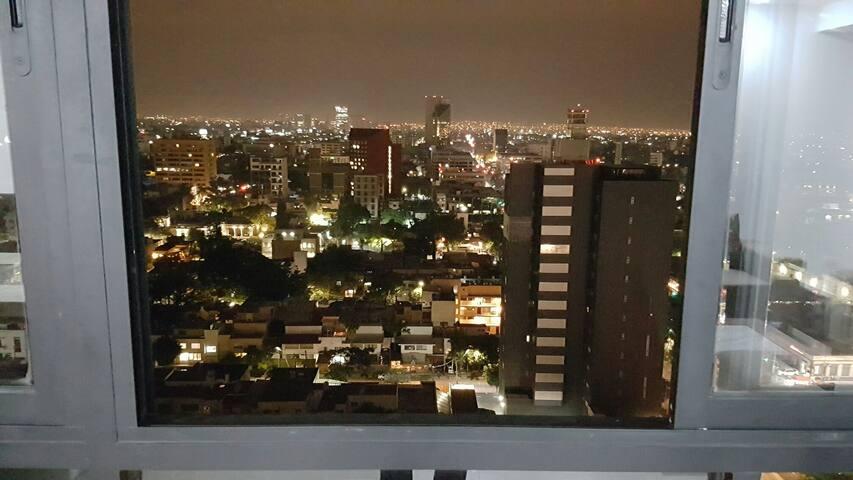 Vista desde el piso #17 del departamento