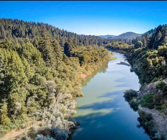 Russian River with sweeping views and private dock