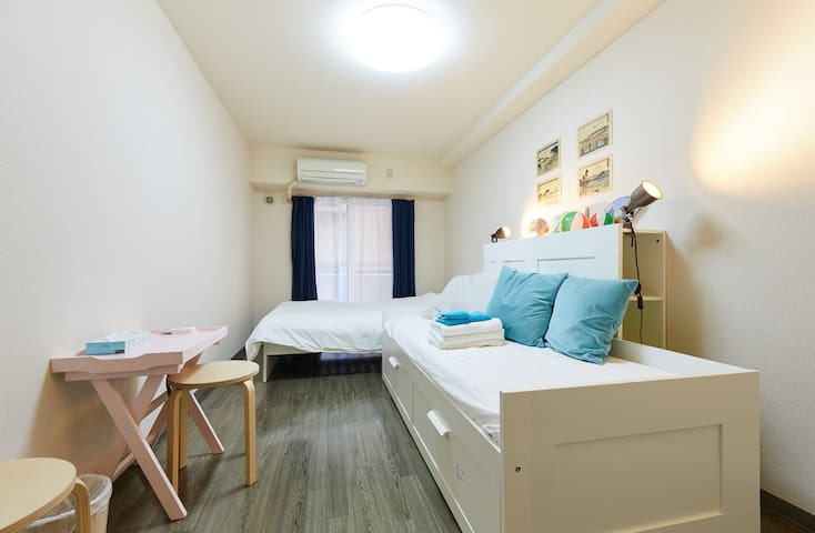 New!! Yokohama 2 double beds/ Japanese Style +WIFI - Kanagawa Ward, Yokohama - Apartamento