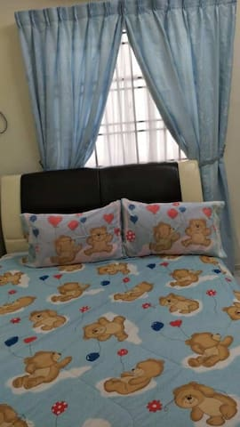 Clean bedroom at very strategic area (3rd room)