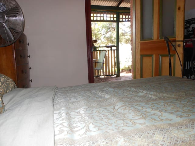 Your room, accessed from the verandah