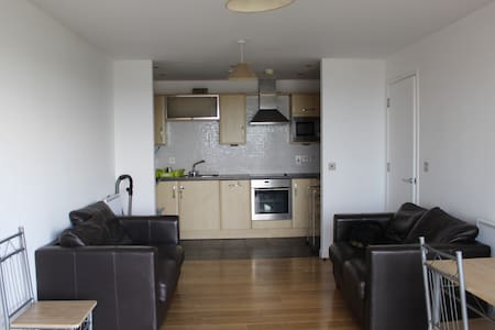 Modern 2 Bed in city Center & fab views + Parking - Swansea