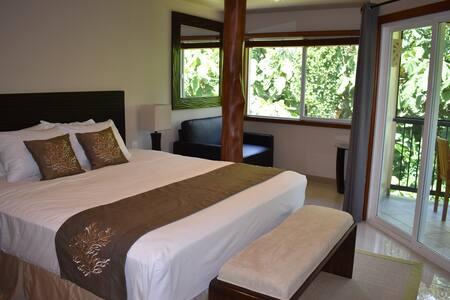 Oceanfront Hilo Beach House Inn - Plumeria Room