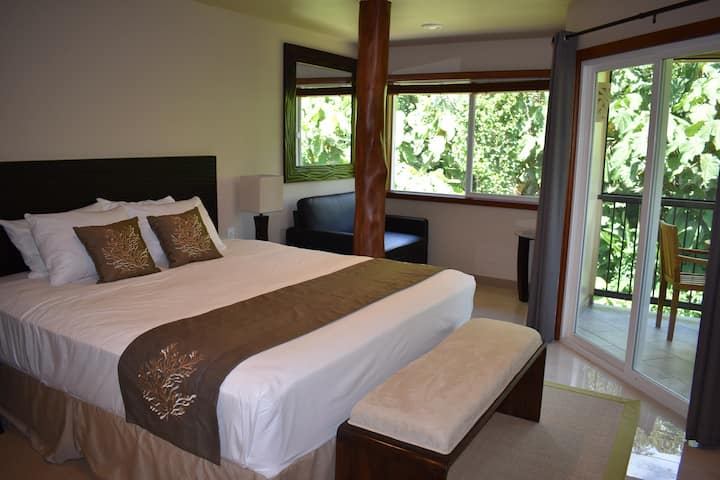 Oceanfront Hilo Beach House Inn - Plumeria Room