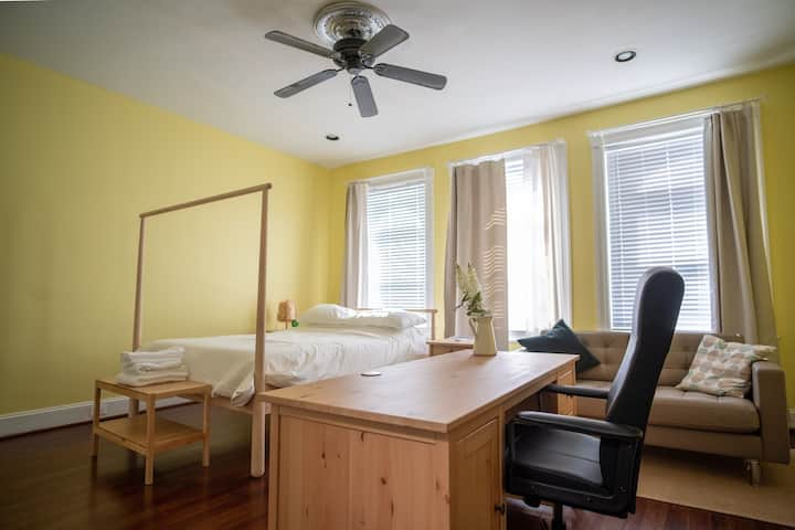 Entire Large Bright Studio @JHU (w/ Private Bath)