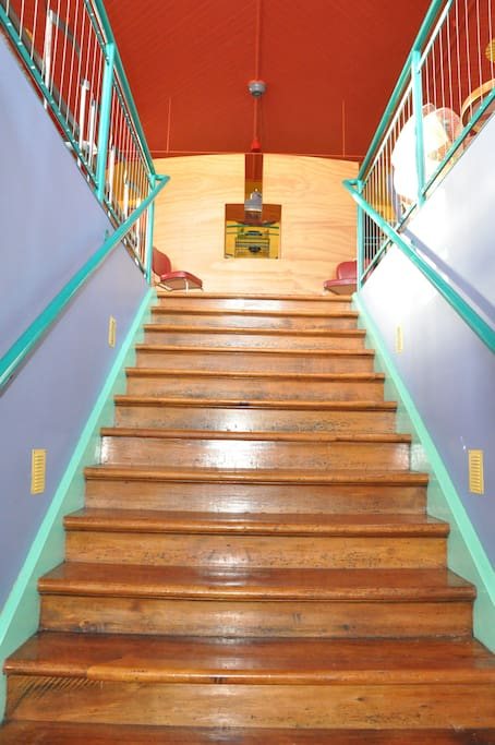 Stairs to living area
