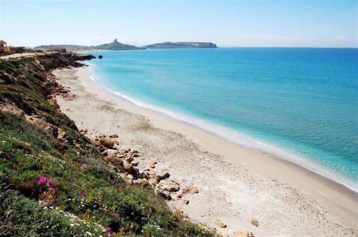 stupenda terrazza sul mare - San Giovanni di Sinis - Apartamento