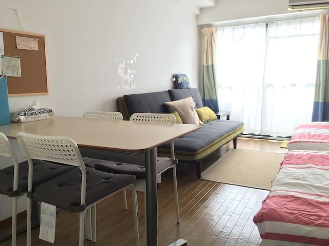 GREAT VIEWS & Location, Clean house - Ōsaka-shi - Apartemen