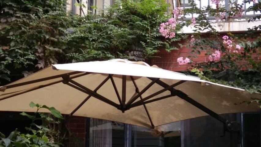 尽享庭院休闲时光,优雅园景房+舒适家庭房 - Wuxi - Huoneisto