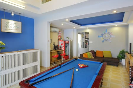 Saigon Backpack Hostel is located at the fringe of the city. It offers you social atmosphere, stunning decoration and comfy bed. It is well equipped with A/C, hot shower, free wifi and kitchen facilities.