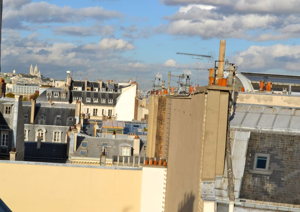 View on Paris roofs and on the Sacré Coeur