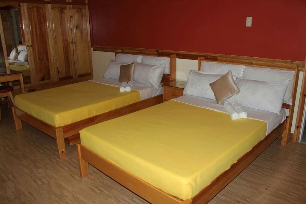 Single room with double beds