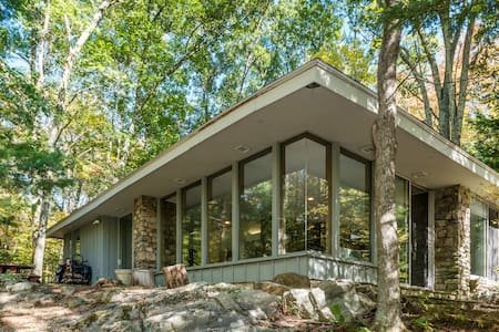 Retreat in the Woods - Frank Lloyd Wright inspired - Woodbury - Haus