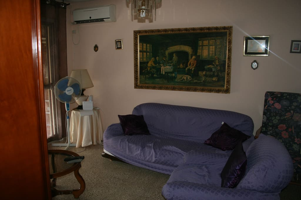 Living room with air con / heating