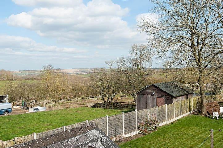 Views to horizon over countryside