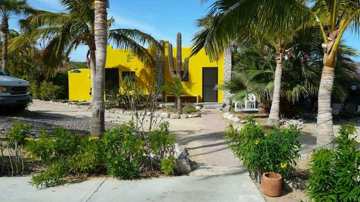 Yellow room, Beachfront LaVentana-El Teso  no-AC