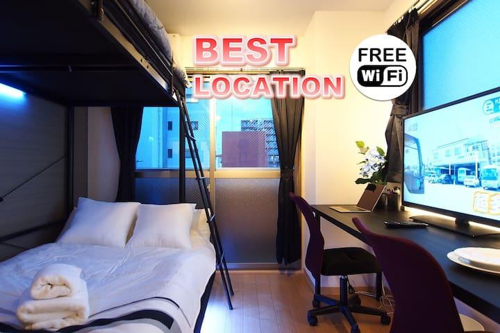 5min Nanba/Best Location/Lux apt#71 - Osaka - Lägenhet
