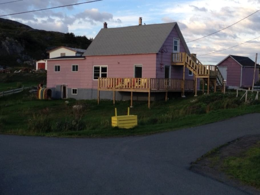 The Change Islands Retreat (aka the Pink House) now has an upstairs bedroom and basic living space