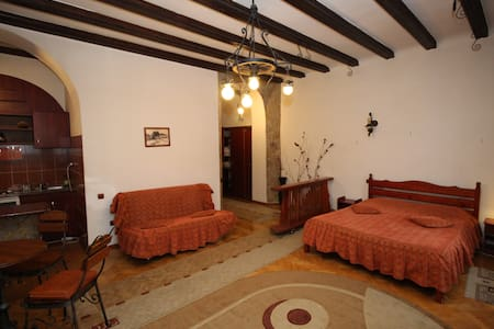 Situated in the heart of old center of Brasov, just 200 m from Council Square and Black Church, just steps away from shps, bars and restaurants, this studio offers great comfort in the perfume of our old town
