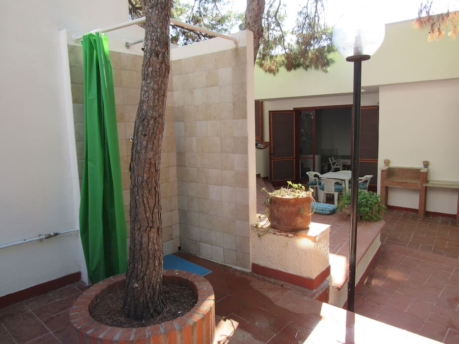 Have a shower on the terrace when returning from the beach.