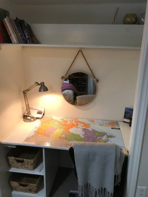 A little study desk nook.