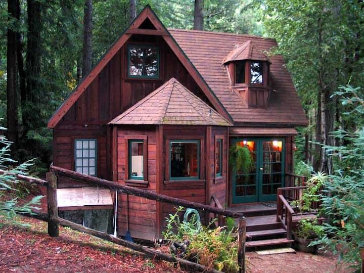 DREAMCATCHER: Hot Tub under Redwoods   Woodstove