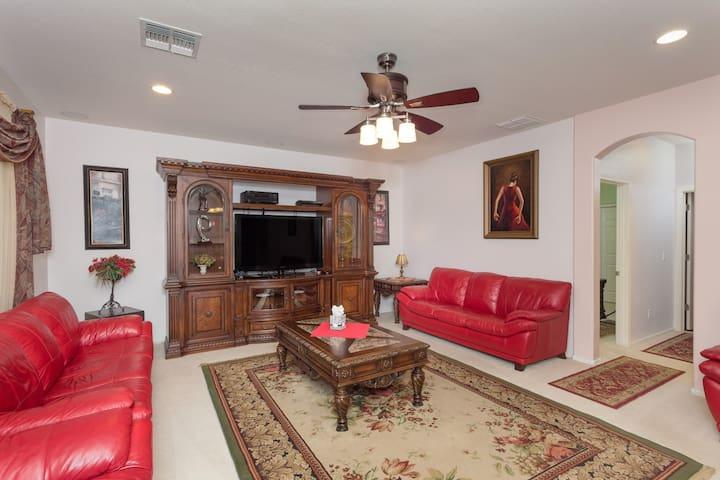 """50"""" LED HDTV in the Living room"""
