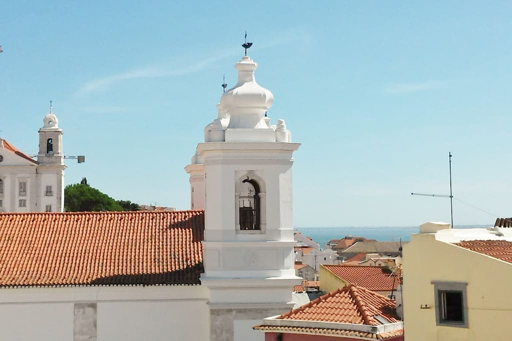 Start your day overlooking the charming Alfama river views